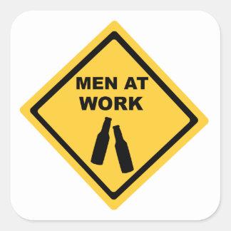 Men at Work Square Sticker