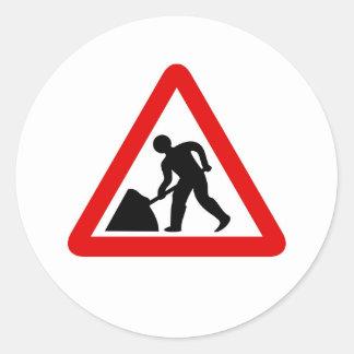 Men at Work Classic Round Sticker