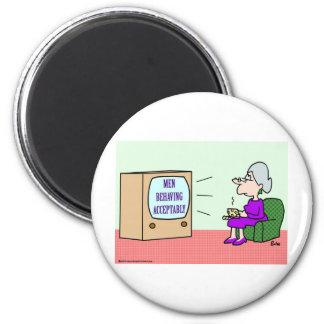 men behaving acceptably fridge magnets