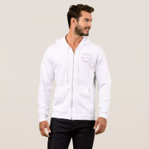 men bella  canvas full-zip t-shirt hoodie