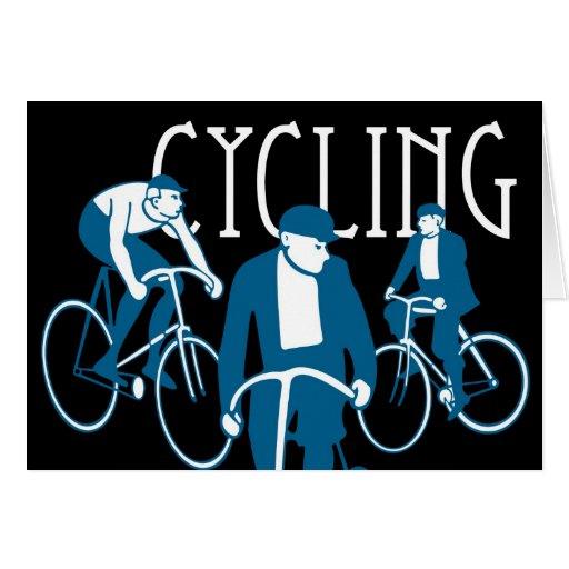 Men Bicycling Card