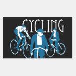 Men Bicycling Sticker