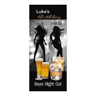 Men Birthday Party Beer Boys Night Out Long 2 Custom Invite