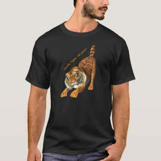 Men black Tiger T-shirt