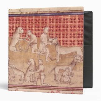 Men caring for hunting dogs binder