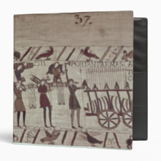 Men carrying arms to the ships and pulling a binder