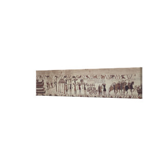 Men carrying arms to the ships and pulling a canvas print