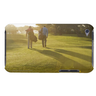 Men carrying golf bags on golf course iPod touch covers