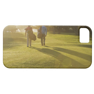 Men carrying golf bags on golf course iPhone SE/5/5s case