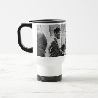 Men Chatting Image - White Travel/Commuter Mug