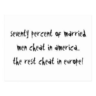 Men Cheat Postcard