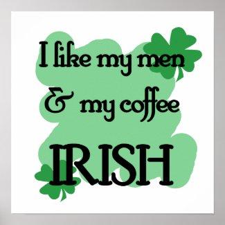 men coffee print