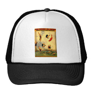 Men diving into Pool Vintage 1898 Circus Poster Trucker Hat