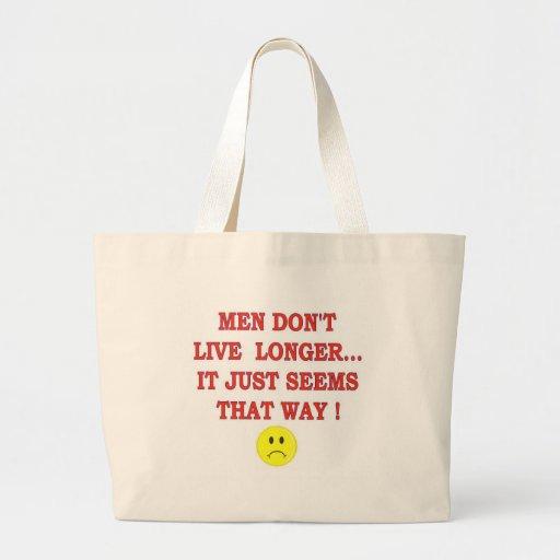 MEN DONT LIVE LONGER CANVAS BAG