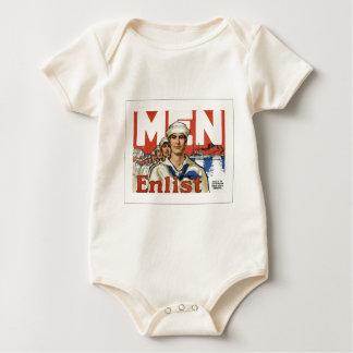 Men enlist baby bodysuit