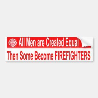 MEN EQUAL CAR BUMPER STICKER