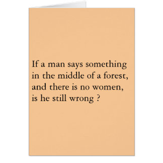 Men Forest Card
