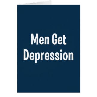 Men Get Depression Greeting Card