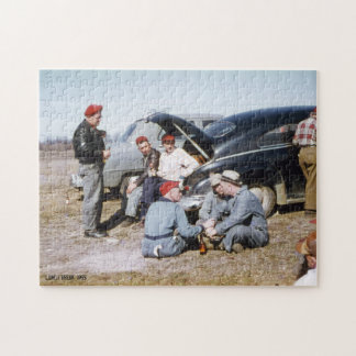 Men, Guys on Lunch Break Beer & Cigarettes Jigsaw Puzzle