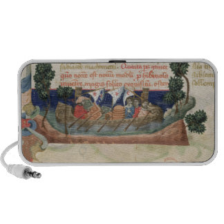 Men in a boat taking supplies to the Holy Land Notebook Speaker