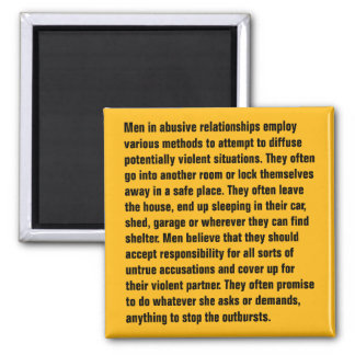 Men In Abusive Relationships Employ Various … Magnet