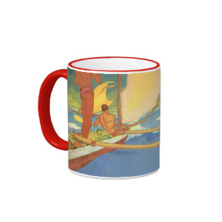 Men in an Outrigger Canoe Cup