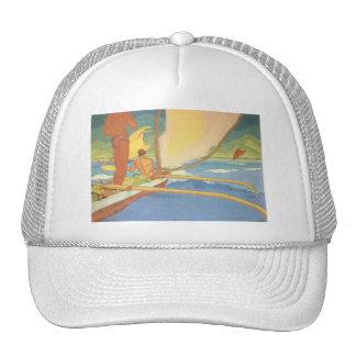 'Men in an Outrigger Canoe Headed for Shore' Trucker Hat