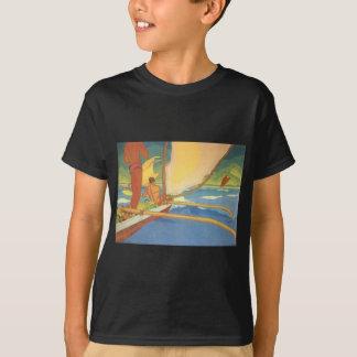 Men in an Outrigger Canoe Headed for Shore T-Shirt