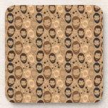 Men in Beards pattern Beverage Coasters