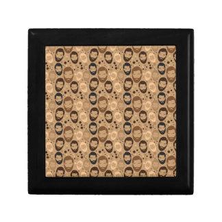 Men in Beards pattern Jewelry Box