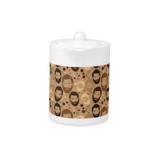 Men in Beards pattern Teapot