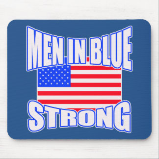 Men in blue strong mouse pad