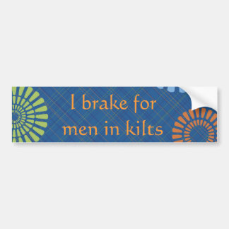 Men in Kilts Bumper Sticker