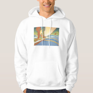 'Men in Outrigger Canoe' - Arman Manookian Hoodie