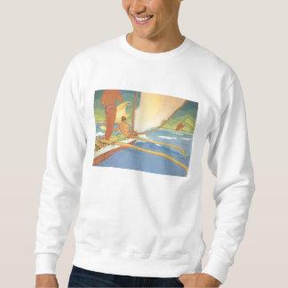 'Men in Outrigger Canoe' - Sweatshirt