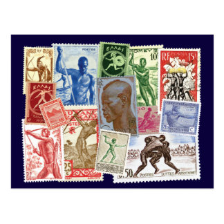 Men in Postal Designs Postcard