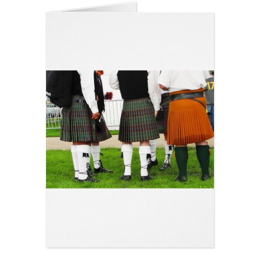 Men In Skirts Card