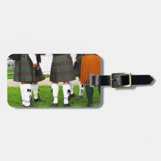 Men In Skirts Luggage Tag
