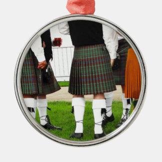 Men In Skirts Metal Ornament