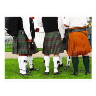 Men In Skirts Postcard