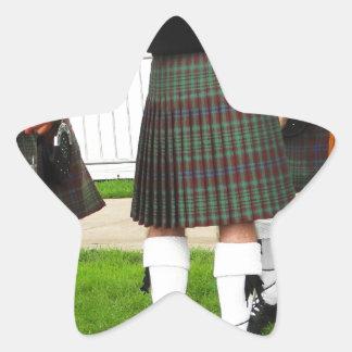 Men In Skirts Star Sticker