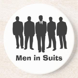men in suits coaster