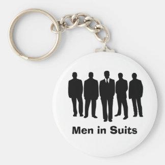 men in suits keychain