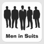 men in suits stickers square sticker