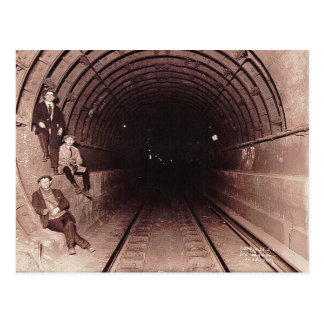 Men in the New York City Subway System Vintage Postcard