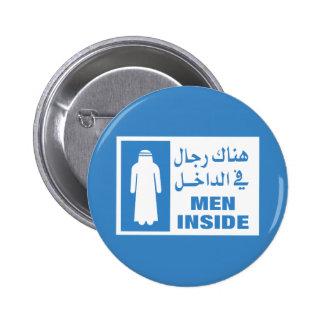 Men Inside Sign, Qatar Pinback Button