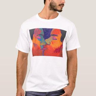 Men Kissing Colorful T-Shirt