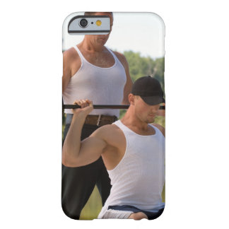Men lifting barbell barely there iPhone 6 case