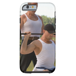 Men lifting barbell tough iPhone 6 case