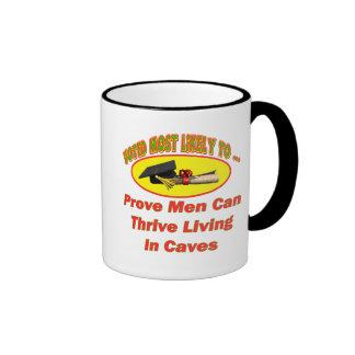 Men Living In Caves Ringer Coffee Mug